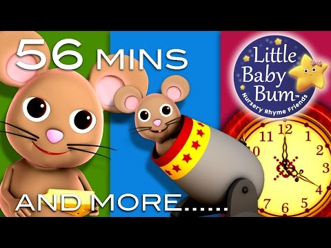 Hickory Dickory Dock | Plus Lots More Children's Rhymes! | 56 Minutes Long | From Littlebabybum video