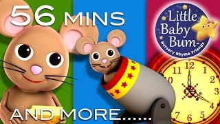 Hickory Dickory Dock | Plus Lots More Nursery Rhymes | from LittleBabyBum!