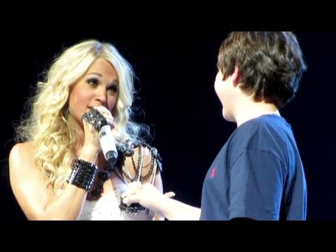 Boy's First Kiss From Carrie Underwood video