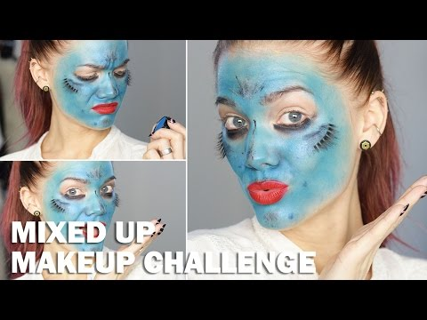 Mixed Up Makeup Challenge (with subs) - Linda Hallberg Makeup Tutorial...