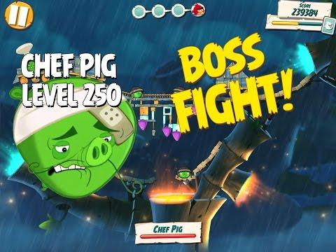 Boss Fight #25! Chef Pig Level 250 Walkthrough   Angry Birds Under Pigstruction