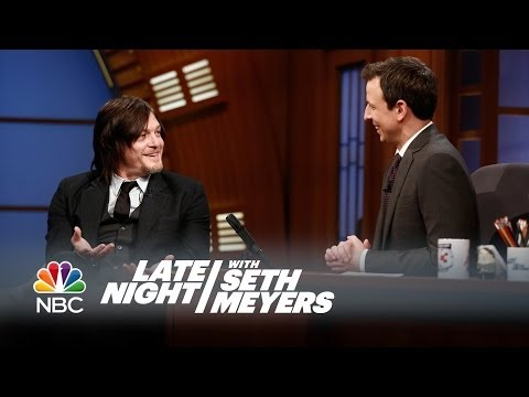 Norman Reedus vs. the Audience Zombie - Late Night with Seth Meyers