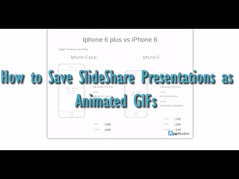 [How to] Convert Slideshare Powerpoint Presntations into GIF