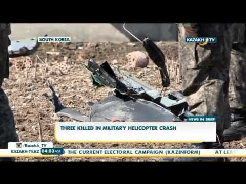 Three killed in military helicopter crash in Gangwon Province  - Kazakh TV