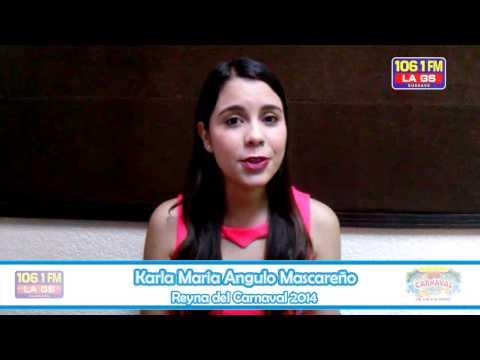 "Karla Maria Angulo Mascareño ""REYNA DEL CARNAVAL GUASAVE 2014"""
