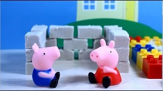 свинка пеппа  Мультфильм. Пеппа и Джордж строят гараж для машинок. Peppa Pig