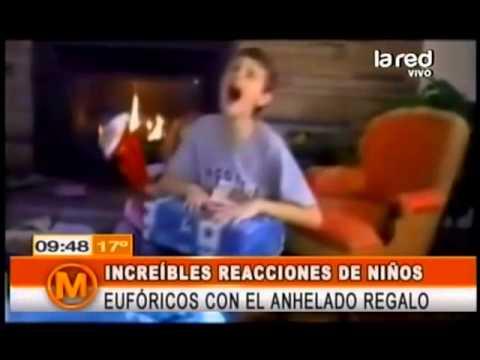 Sorprendentes reacciones de los niños al recibir sus regalos en navidad
