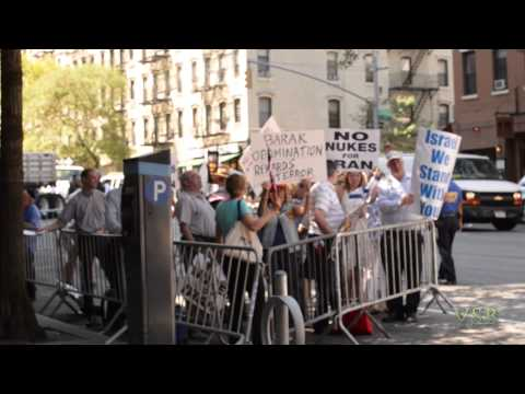 Counter Protest Move-on at Congresswoman Carolyn Maloney's NYC office