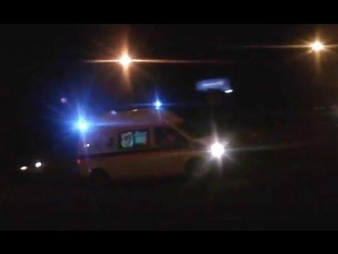 Italy Ambulance Włoska karetka jako Ambulans T alarmowo obwodnicą Jabłonny 2.03.2014