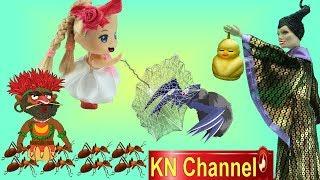 BÚP BÊ KN Channel BIẾN THÀNH NGƯỜI NHỆN SPIDERMAN TIÊU DIỆT PHÙ THỦY ICY ĐỘC ÁC