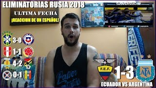 ECUADOR VS ARGENTINA 1-3 | REACCIONES | ELIMINATORIAS RUSIA 2018