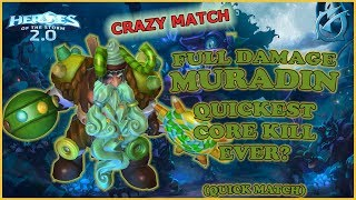 Grubby | Heroes of the Storm 2.0 - Full Damage Muradin - Quickest Core Kill Ever? - QM - GoT