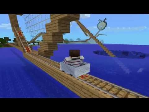 ¡GENIAL MONTAÑA RUSA Minecraft PE 0.8.0