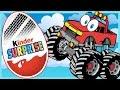 Мультик с машинками - 50 киндер сюрпризов - Монстр траки. Пожарная машина. Вспыш. Тачки. Спецтехника