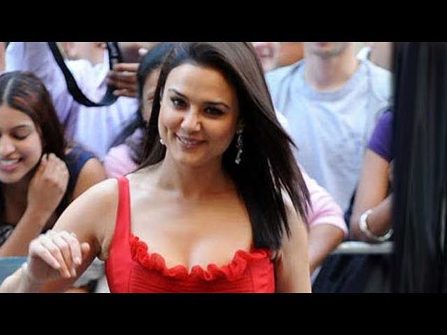 Preity Zinta at Wankhede Stadium