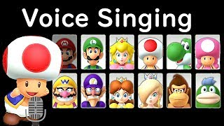Mario Party 10 All Characters Voices Singing