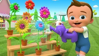 Learning Colors for Children with Little Baby Watering Plants Color Flowers 3D Kids Fun Educational
