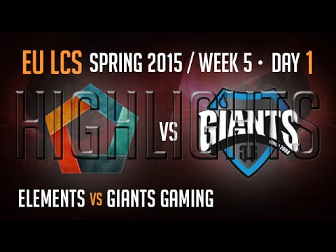 Elements vs Giants Highlights | Week 5 Day 1 S5 EU LCS Spring 2015 | EL vs GIA
