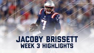 Every Jacoby Brissett Throw & Run | Texans vs. Patriots | NFL Week 3 Player Highlights