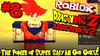 THE POWER OF SUPER SAIYAN GOD GOKU! | Roblox: Dragon Ball Rage Rebirth 2 - Episode 8