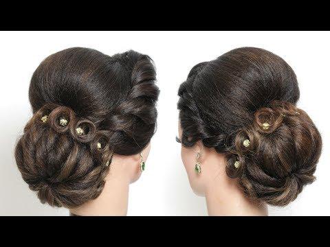 Bun Hairstyle For Long Medium Hair Tutorial