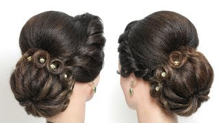 Bun Hairstyle For Long Medium Hair Tutorial