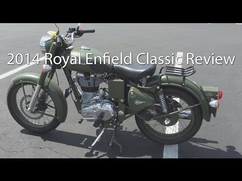 2014 Royal Enfield Bullet Classic C5 Military Motorcycle Review