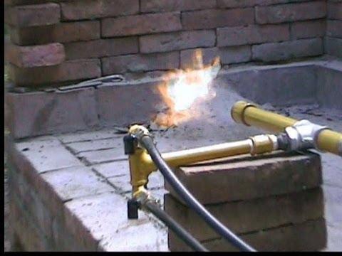 Como hacer un quemador de gas