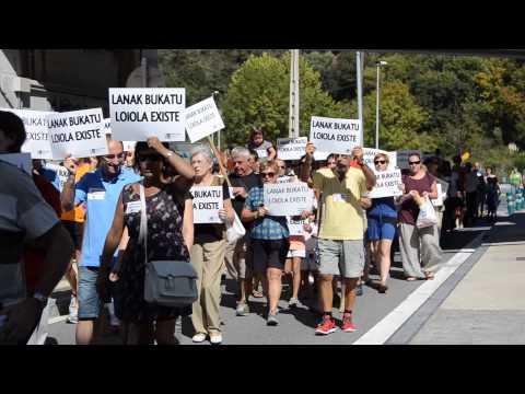 Loiolatarrak, protestan