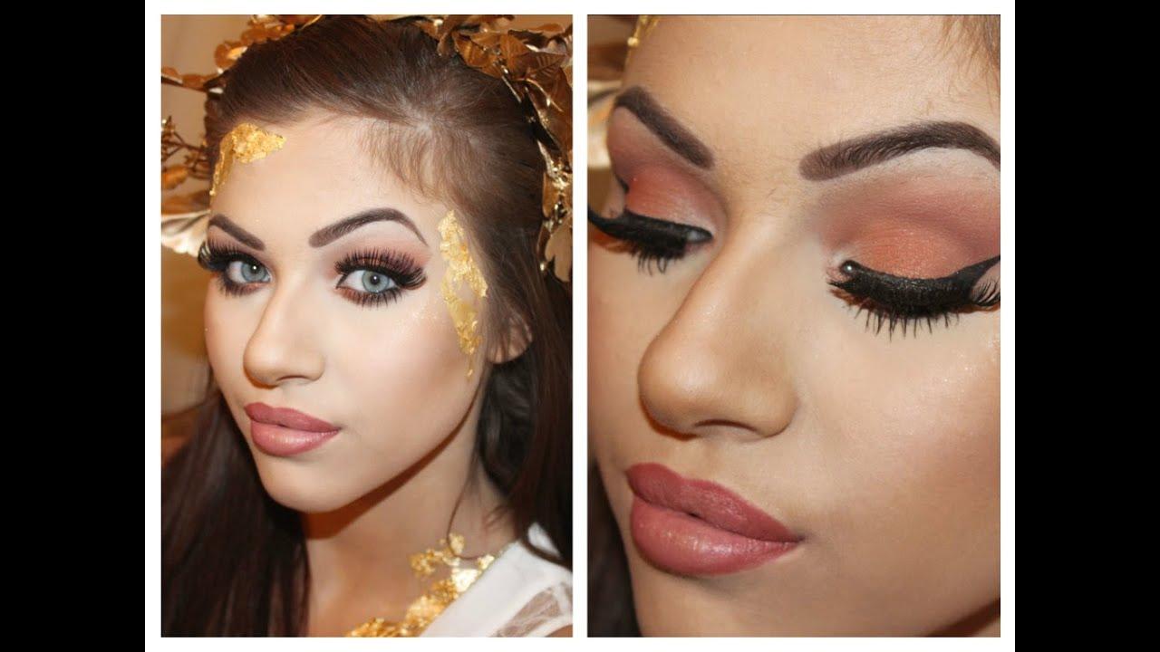 greek goddess makeup tutorial youtube