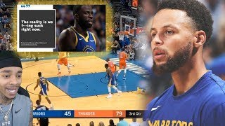 GSW REALLY SUCK NOW!🤦‍♂️ Reacting To Golden State Warriors vs OKC Thunder - Full Game Highlights!