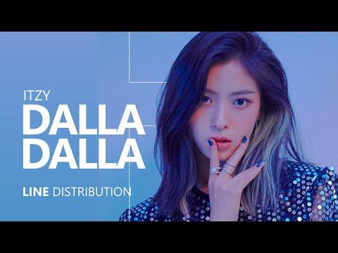 ITZY - 달라달라 DALLA DALLA  Line Distribution
