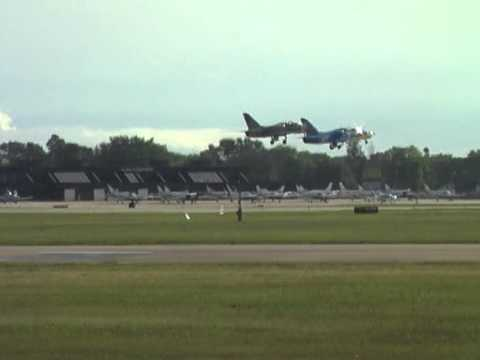Two L-39s Departing EAA Airventure 2012 in Formation