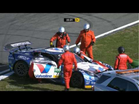 ADAC GT Masters 2016. Race 2 Hockenheimring. Jules Gounon Huge Crash & Red Flag