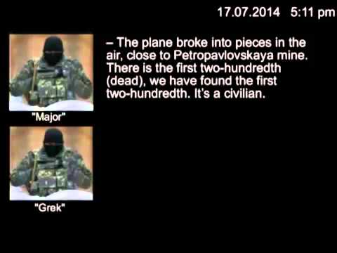 Leaked Audio - We Just Shot Down a Plane: Rebel Leader