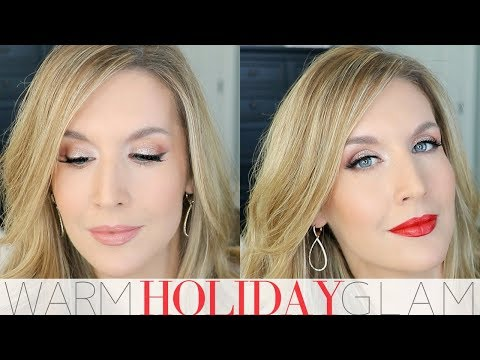 Warm Holiday Makeup Tutorial | FIRE & ICE Collab w/ Risadoesmakeup | Holiday Glam