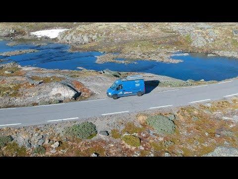 Schneestrasse in Norwegen mit dem Camper・Sognefjord + Aurlandsvegen・V2og #51