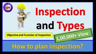 Inspection and Types of Inspection – Learn how to plan inspection