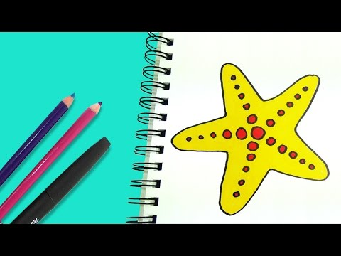 How to draw a Starfish| Αστερίας | Ζωγραφική για παιδιά #4