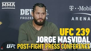 UFC 239 Post-FIght Press Conference: Jorge Masvidal - MMA Fighting