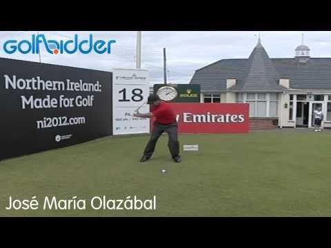 Jose Maria Olazabal Golf Swing Slow Motion