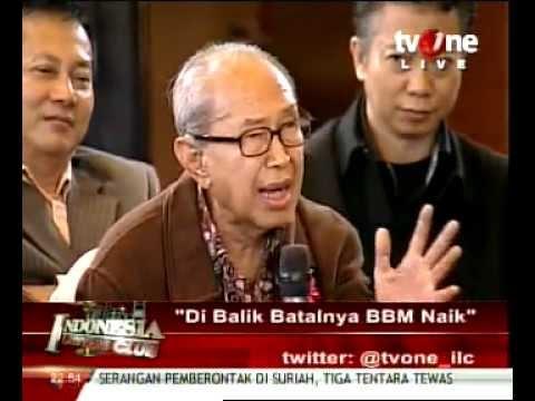 Prof,JE Sahetapy - Di Balik Batalnya BBM Naik. in ILC TV One.