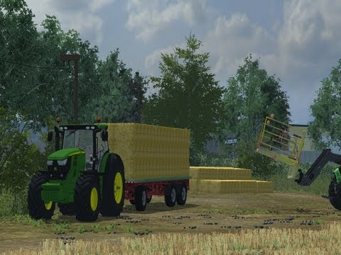 Farming Simulator 2013   Carting Straw with the Mod Contest John deere 6R