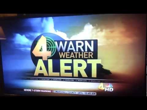 Freakish Severe Weather Intro Transition on WSMV - 8/17/2012