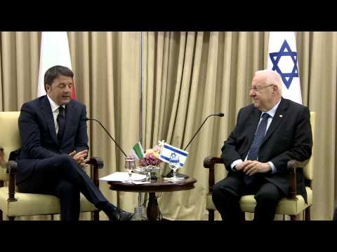 President Rivlin meets with Italian Prime Minister Matteo Renzi