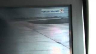 Turkish Airways A340-300 Taxi and Take off in Istambul CLOSE CALL TO