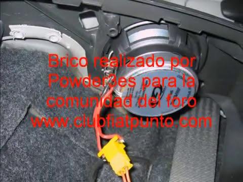 Instalación Altavoces Traseros Fiat Punto MK2