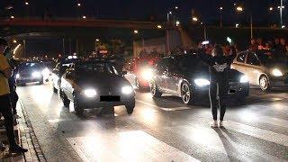 Policja przerywa nielegalne wyścigi samochodów
