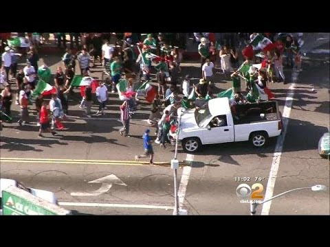 Mexico's World Cup Win Results In 4 Detained In Huntington Park