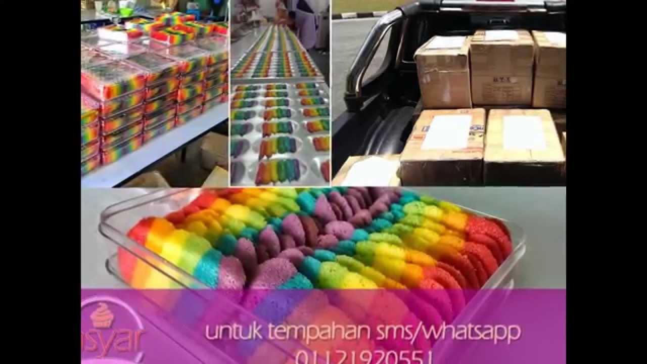 Rainbow Cookies Amsyarbaker (biskut lidah kucing) - YouTube